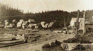 Tlingit Dorf um 1883